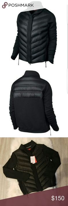 ✅Make Offer✅Nike Tech AeroLoft Down Jacket Sz XS PRODUCT DESCRIPTION   Your favorite varsity silhouette bundles up for winter with the Women's Nike Sportswear Tech Fleece Aeroloft Bomber Jacket. It's made with down-filled baffles on the front and features Nike Tech Fleece sleeves for exceptional warmth without the bulk.   ? Goose down insulation is heavy on warmth, light on weight.   ? Nike Tech Fleece sleeves are soft, light and warm.   ? Oversized collar enhances warmth.   ? 100%…