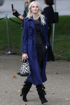 Poppy Delevingne - Burberry SS16 Front Row & Arrivals - September 21, 2015