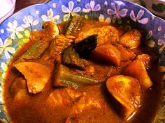 Kitchen Missus: Nyonya Kuah Lada Delicious and spicy Stingray gravy with eggplant and okra. A classic Peranakan dish from Southeast Asia