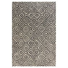 "8-6x11-6 $670 Wool pile height .75"" Bashian Rugs Ashland Black / Sand Area Rug & Reviews 
