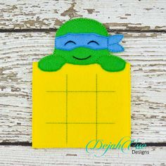 Turtle Ninja Tic Tac Toe board and many more items are available for purchase at https://www.etsy.com/shop/SchoolhouseBoutique