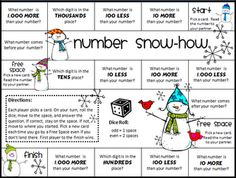 place value game freebie 3 versions - 100s, 1,000s, and 10,000s.
