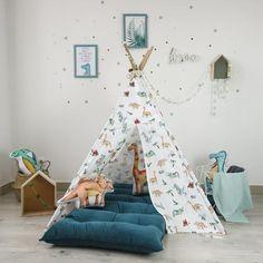 Boys Teepee, Kids Tents, Teepee Nursery, Nursery Decor, Nursery Ideas, Boys Room Decor, Boy Room, Soft Flooring, Backyard Play