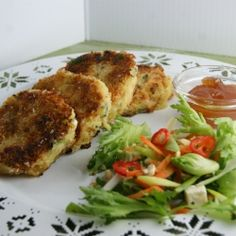 Potato cakes with chili, spring onion, cheese and cilatro. A great vegetarian option.