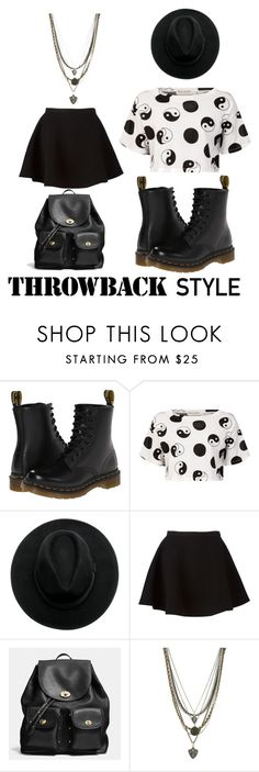 """""""Throwback style"""" by fashionspecialclothes on Polyvore featuring Dr. Martens, Être Cécile, Neil Barrett, Coach and Ettika"""