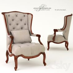 Wing-backed chair