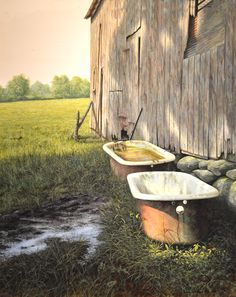 """""""Spring Fed""""  by Mark Meunier (20 x 16"""") Egg Tempera and Oil on Panel, available at the R. Michelson Galleries or at rmichelson.com"""