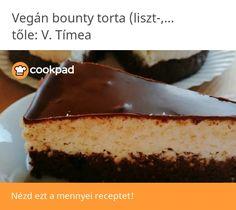 Vegán bounty torta (liszt-,tojás-,tej-,cukormentes) zabkorpával Tej, Cheesecake, Paleo, Vegan, Food, Cheesecakes, Essen, Beach Wrap, Meals