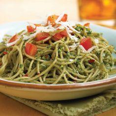 Walnut-Basil Pesto Pasta  #summer pasta #recipe