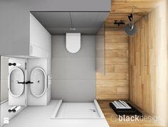 Łazienka męska, dla młodego singla - Mała łazienka bez okna, styl nowoczesny - zdjęcie od black design