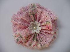 Shabby Blume Rose romantisch Vintage Spitze gehäkelt Applikation Handarbeit
