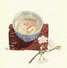 Tea Illustration, Food Painting, Water Art, Food Drawing, Tea Ceremony, Anime Scenery, Food Illustrations, Chinese Art, Aesthetic Art