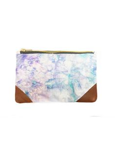 Della: Poppy Large Travel Bag with traditional batik fabric and vegan leather. Also has a matching change purse!