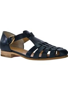 Church' 'Heneika' calf leather sandals - love these! Gladiator Sandals, Leather Sandals, Shoes Sandals, Flats, Calf Leather, Leather Men, Church Fashion, Designer Sandals, Kinds Of Shoes