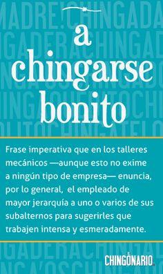 «A chingarse bonito», la frase de hoy en @ElChingonario: