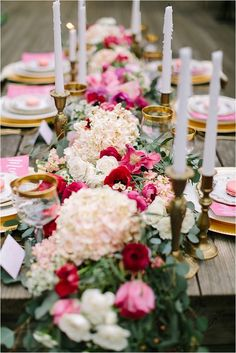 Southern California Bride: Romantic and Rustic Pink and Red Wedding Ideas