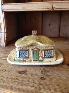 Love Cottage Butter dishes....  Vintage Cottage Ware Butter/Cheese Dish by Sylva Ceramics. $24.00, via Etsy.