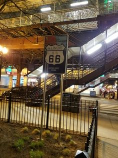 """Where the historical Route 66 begins in downtown Chicago, IL, corner of Wabash and Adams. April 21, 2016. """"Get your fix on Route 66!"""""""