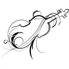 simple violin drawing - Google Search