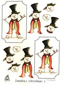 The House of Zandra decoupage - Christmas 1 - Snowman