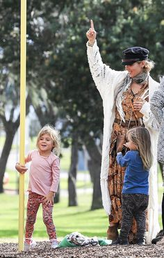 Powerful progeny: Chris Hemsworth's daughter India Rose, 5, displayed her own feat of superhuman strength recently when she made short work of a climbing pole during a family trip to the playground