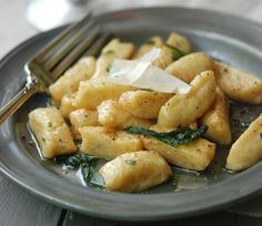 Squash Gnocchi with Brown Butter & Sage.  Took much longer than the recipe said but loved it!