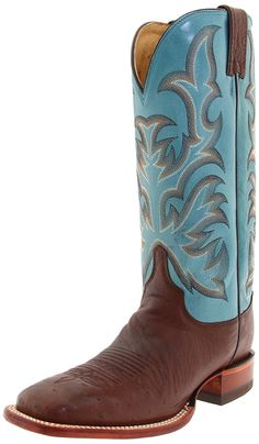 Justin Boots Women's Aqha Smooth Ostrich Remuda Broad-toe Boot -- See this great image  : Women's boots