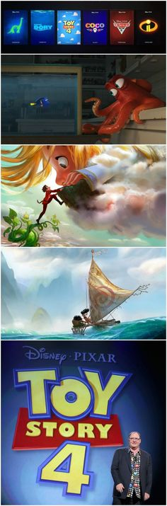 First looks at the upcoming movie slate from Disney Animation Studios and Pixar Studios.