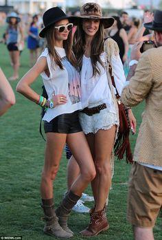 Coachella 2013: Victoria's Secret model Alessandra Ambrosio and Miranda Kerr