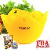 #9: SORELLA Egg Poacher  4 Pack  Premium Quality Extra Thick Non-Stick Silicone Egg Cookware Cups Egg Cooker Egg Boiler Amazing Kitchen Gadget Poached Eggs In Minutes! 100% Satisfaction Garanteed!