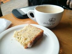 """""""Best way to start the weekend? #ItsToDieFor lemon loaf & classico cappuccino at Milano.""""  Thx Kat Salvante"""
