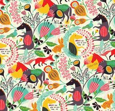 Helen Dardik, orange you lucky!: Wild Horses . . . Love this pattern. Especially the foxes!