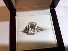 Emerald radiant cut diamond with double halo...this is my ring!