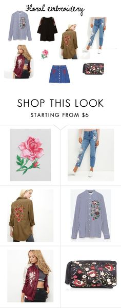 """Floral embroidery"" by aloveforprettythings on Polyvore featuring moda, Orelia, New Look y Fall2016"