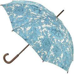 Morris & Co Roma Ladies Walking Length Umbrella - Chrysanthemum Toile - Brolliesgalore