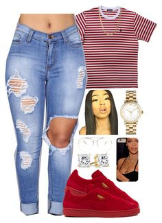 """""""Untitled #2136"""" by basnightshine1015 ❤ liked on Polyvore featuring Puma and Marc by Marc Jacobs"""