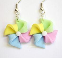 Pinwheels Polymer Clay Earrings