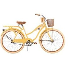 Huffy Nel Lusso Women's Cruiser Bike, Butter Yellow – bicycle center Mountain Bikes For Sale, Mountain Biking Women, Beach Cruiser Bikes, Cruiser Bicycle, Bici Retro, Sr1, Bicycle Women, Bicycle Maintenance, Cool Bike Accessories