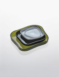 Alvar Aalto; # 9769 A-B-C-D Glass Bowls for Iittala, 1936/1956