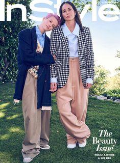 Meg Rapinoe and Sue Bird - InStyle, October Lgbt, Megan Rapinoe, Badass Women, Female Athletes, Matching Outfits, Role Models, High Fashion, Female Fashion, Fashion Fashion
