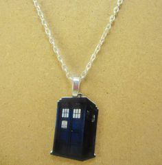 Dr. Who Inspired Tardis Necklace
