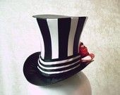 Striped Top Hat with a spot of red. Night Circus