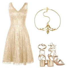 """Good as Gold"" by liniki ❤ liked on Polyvore featuring Gianvito Rossi"