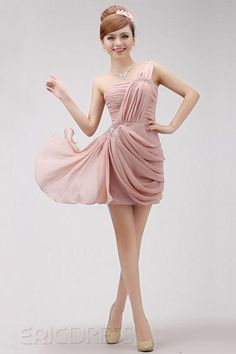 Chic Short/Mini-Length One-Shoulder Sheath/Column Cocktail Dress Sexy Cocktail Dresses - ericdress.com 10460157