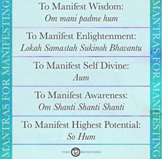 Download + print your Intention card with 5 different Sanskrit mantras to manifest your desires. Now live on Blog108.