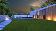 Vista de la terraza superior del la Casa Y_ Diseñada por los Studios 120 Grados & Weis Coello Arquitectos