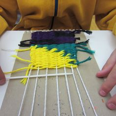 Weaving with 4th grade has been super fun- they seem to love it, especially because of this video: Weaving on a cardboard loom which was...