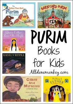 Purim Books for Kids – All Done Monkey Favorite Purim books to celebrate the upcoming holiday of Purim. Includes tales about Queen Esther as well as stories of how Purim is celebrated today. Learn Hebrew Online, Hebrew School, Queen Esther, Literacy Activities, Holiday Activities, Teaching Resources, Teaching Ideas, Preschool Books, Reading Material