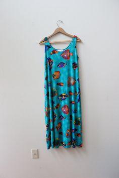 90s Underwater Sea Punk Dress by LooseGoods on Etsy, $38.00