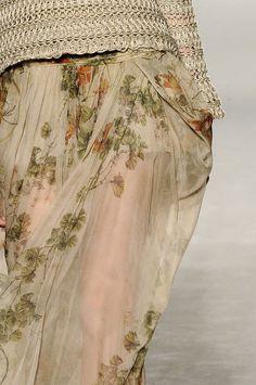 autumn floral skirt
